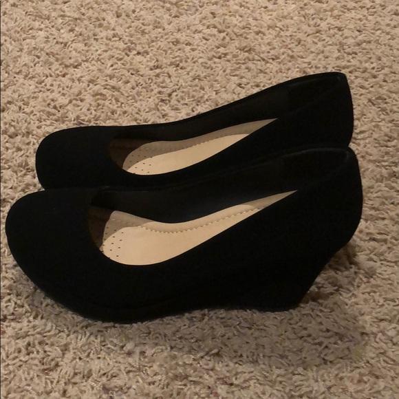 Shoes   Black Closed Toe Wedges   Poshmark